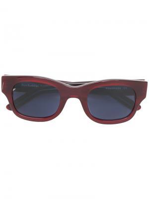Солнцезащитные очки с квадратной оправой Sun Buddies. Цвет: жёлтый и оранжевый