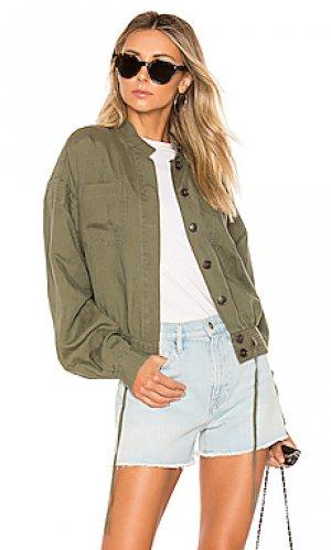 Куртка double pocket FRAME. Цвет: оливковый