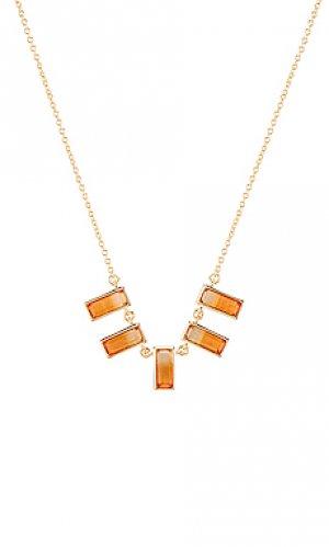 Ожерелье с подвесом Elizabeth Stone. Цвет: металлический золотой