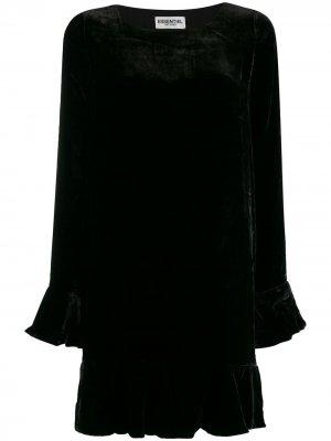 Короткое платье с оборками Essentiel Antwerp. Цвет: черный