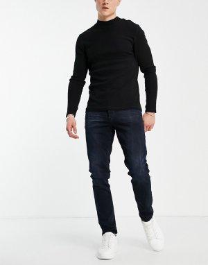Черные выбеленные узкие джинсы 3301-Черный цвет G-Star