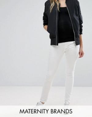 Эластичные джинсы скинни Zadie Isabella Oliver. Цвет: белый