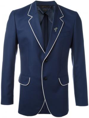 Блейзер с контрастной окантовкой Marc Jacobs. Цвет: синий
