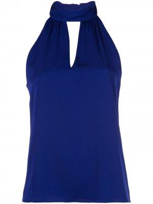 Блузка с каплевидным вырезом Milly. Цвет: синий