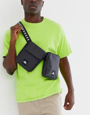 Черная сумка-кошелек на пояс из полиуретана 222 Banda Bolly-Черный Kappa