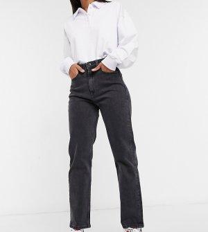 Выбеленные черные прямые джинсы с сильно завышенной талией -Черный Tommy Jeans