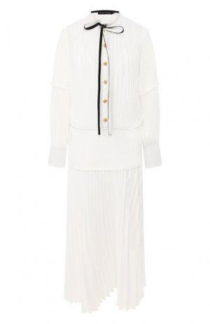 Платье-миди Proenza Schouler. Цвет: белый