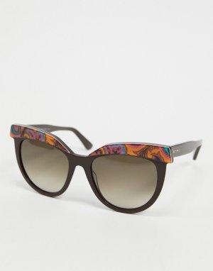 Круглые солнцезащитные очки в фиолетовой оправе с принтом Etro-Фиолетовый цвет ETRO