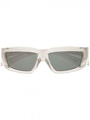 Солнцезащитные очки в квадратной оправе Rick Owens. Цвет: серый