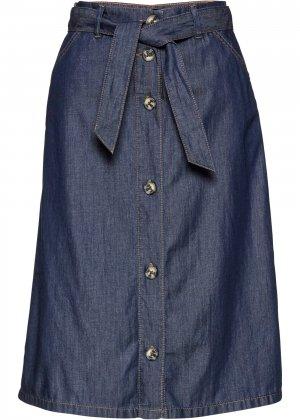 Юбка джинсовая bonprix. Цвет: синий