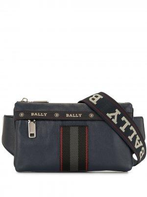 Поясная сумка с логотипом Bally. Цвет: синий
