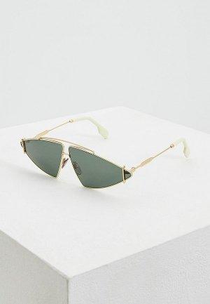 Очки солнцезащитные Burberry BE3111 101771. Цвет: зеленый