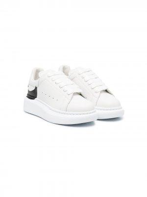 Кроссовки Oversized с логотипом Alexander McQueen Kids. Цвет: белый