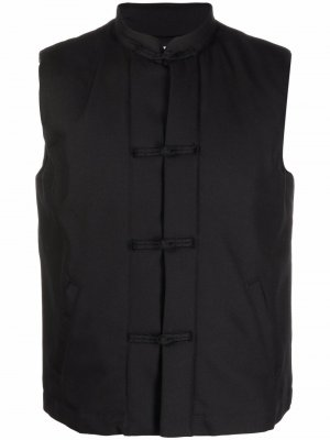 Дутый жилет на пуговицах Comme Des Garçons Shirt. Цвет: черный