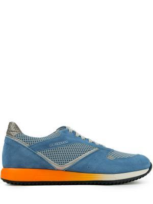 Комбинированные кроссовки Alberto Guardiani. Цвет: голубой