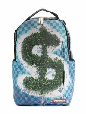 TEEN logo-print graphic backpack sprayground kid. Цвет: синий