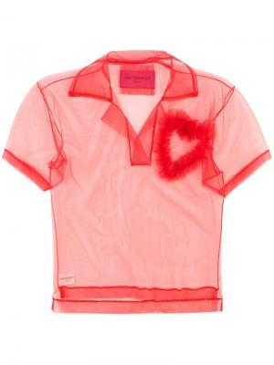 Рубашка-поло Lovely Viktor & Rolf. Цвет: красный