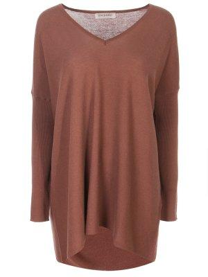 Пуловер из хлопка Gentryportofino. Цвет: коричневый
