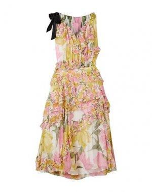 Платье до колена JASON WU COLLECTION. Цвет: желтый