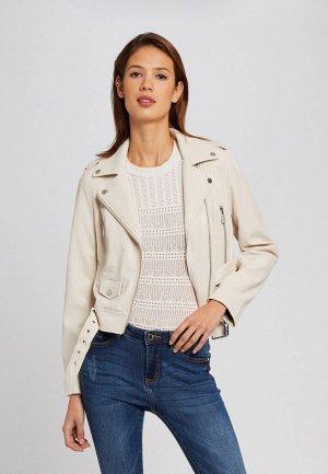 Куртка кожаная Morgan. Цвет: белый