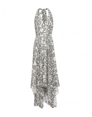 Платье миди HALSTON. Цвет: слоновая кость