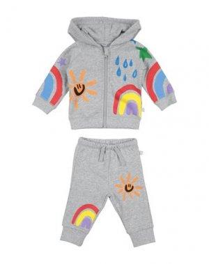 Комплект для малыша STELLA McCARTNEY KIDS. Цвет: серый