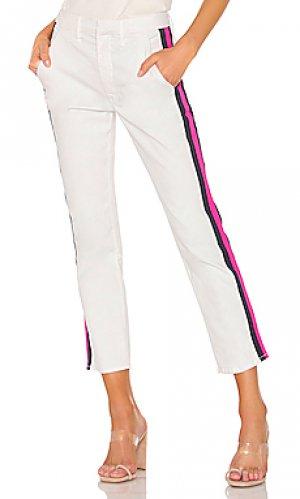 Прямые брюки straight shaker MOTHER. Цвет: белый