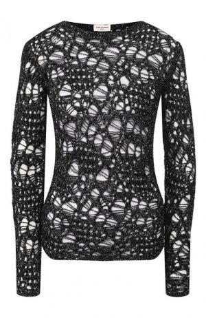 Пуловер Saint Laurent. Цвет: серый