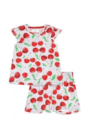 Пижама PlayToday. Цвет: белый, красный