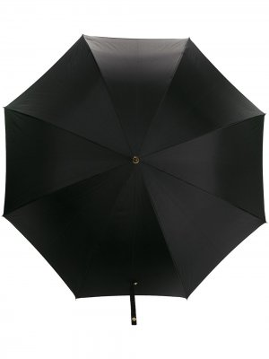 Зонт с декорированной ручкой Alexander McQueen. Цвет: черный