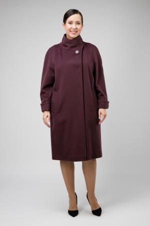 Пальто реглан для больших размеров Teresa Tardia. Цвет: сливовый