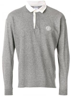 Рубашка-поло с длинными рукавами Moschino Pre-Owned. Цвет: серый