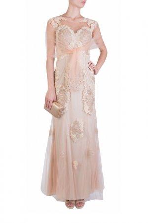 Платье MIKAEL. Цвет: бежевый