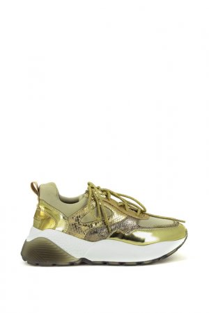 Кроссовки just couture. Цвет: золотой