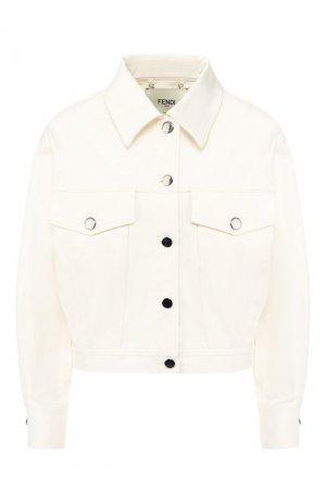 Джинсовая куртка Fendi. Цвет: белый