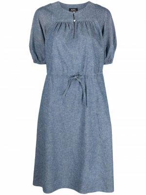 Джинсовое платье Ondine A.P.C.. Цвет: синий