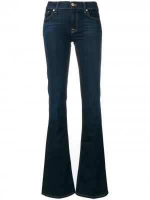 Слегка расклешенные джинсы 7 For All Mankind. Цвет: синий