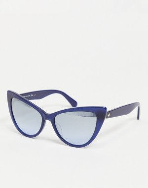 Солнцезащитные очки «кошачий глаз» Karina-Голубой Kate Spade
