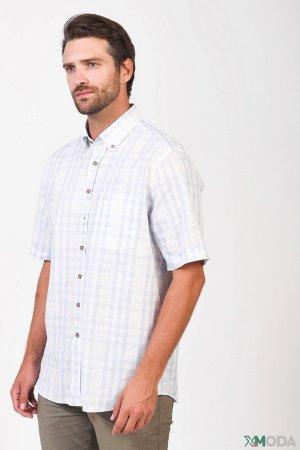 Мужские рубашки с коротким рукавом Claudio Campione. Цвет: белый