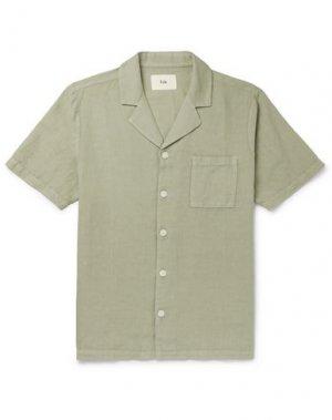 Pубашка FOLK. Цвет: зеленый-милитари