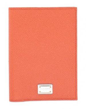 Чехол для документов DOLCE & GABBANA. Цвет: оранжевый