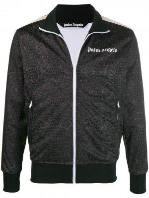 Спортивная куртка с принтом Palm Angels. Цвет: черный