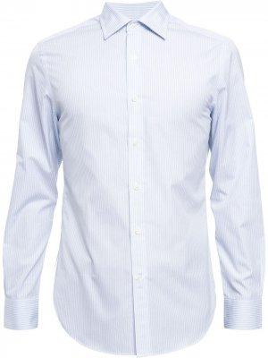 Полосатая рубашка с длинными рукавами Kent & Curwen. Цвет: синий