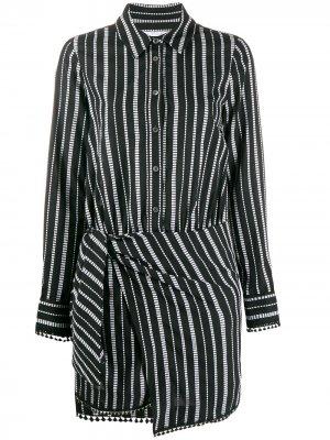 Платье-рубашка Eunice в полоску Derek Lam 10 Crosby. Цвет: черный