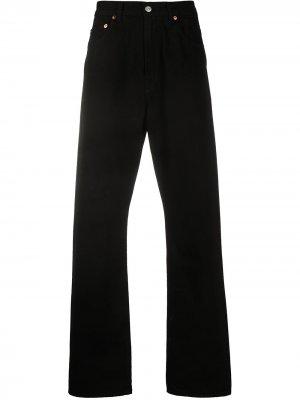 Широкие джинсы средней посадки Our Legacy. Цвет: черный