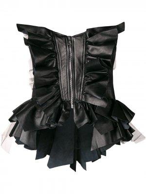 Ruffled corset Natasha Zinko. Цвет: черный