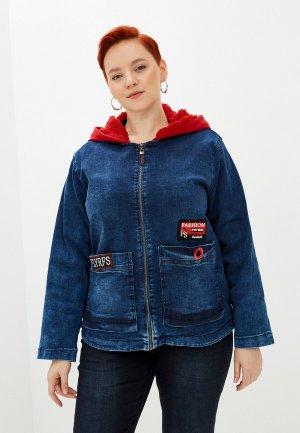 Куртка джинсовая Полное счастье. Цвет: синий