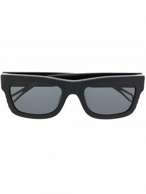Солнцезащитные очки в квадратной оправе Zadig&Voltaire. Цвет: черный