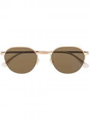 Солнцезащитные очки из коллаборации с Maison Margiela Mykita. Цвет: коричневый