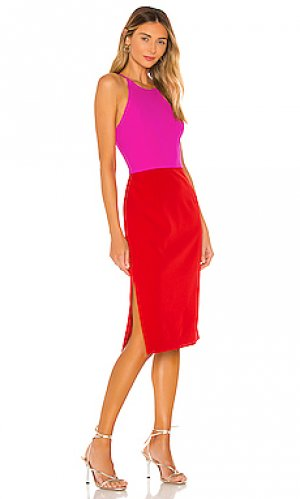 Платье миди cady MILLY. Цвет: fuchsia,red